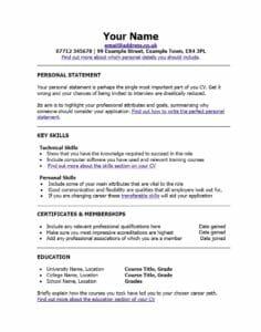 CV po angielsku wzór