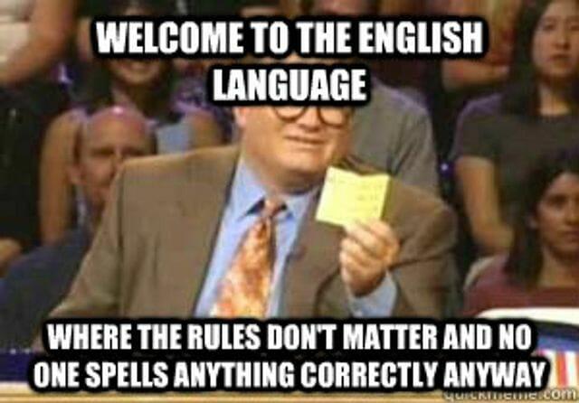 El inglés es un idioma difícil