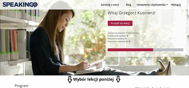 internetowy kurs języka angielskiego Speakingo