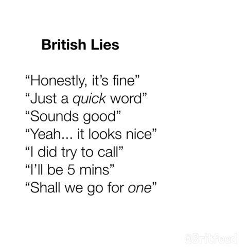 brytyjskie kłamstwa, komunikacja miedzykulturowa, anglicy