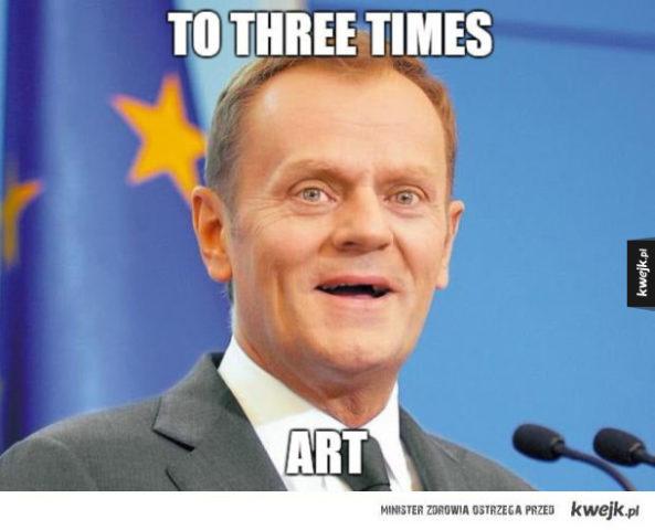 angielski, tusk, do trzech razy sztuka
