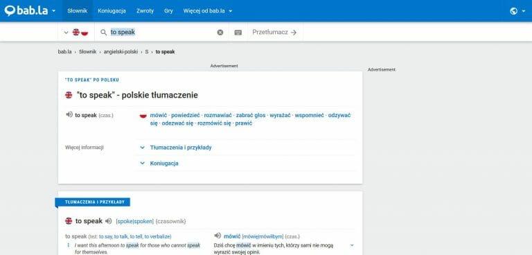 slownik polsko angielski online porównanie który wybrać babla