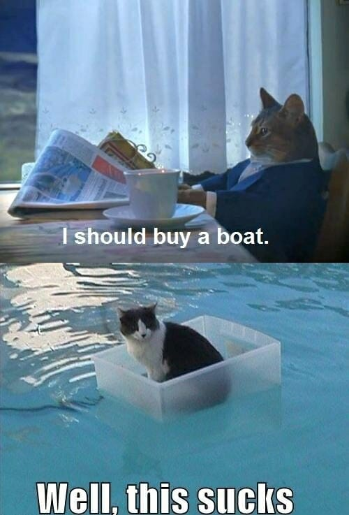 Debería comprar un barco... naaa, eso apesta.