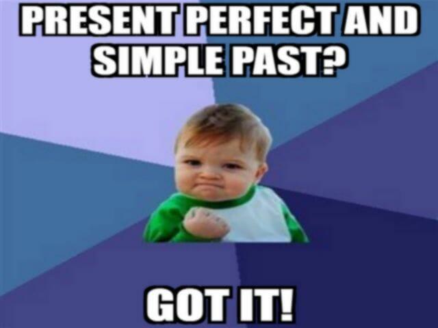 porównanie zestawienie present perfect i simple past angielski