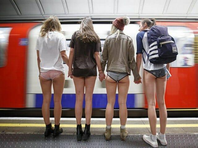 dzień bez spodni, metro londyn