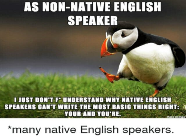 błędy native speakerów