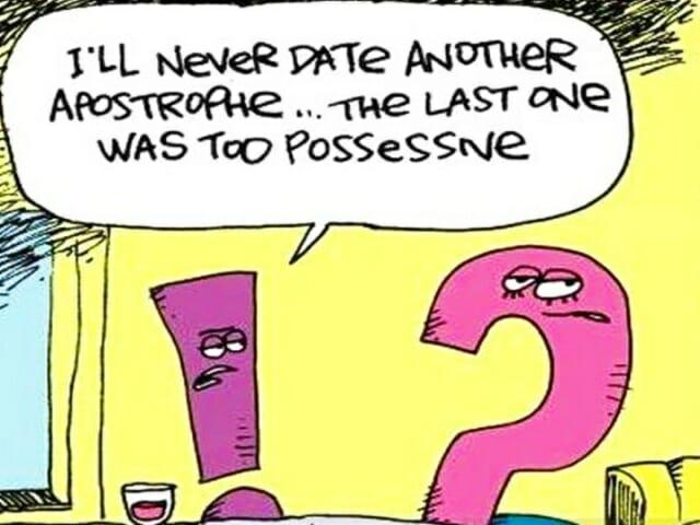 apostrof, possessive 's