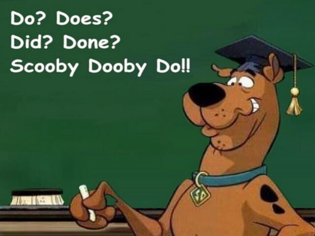 kiedy używamy do did doing done, scooby dooby do