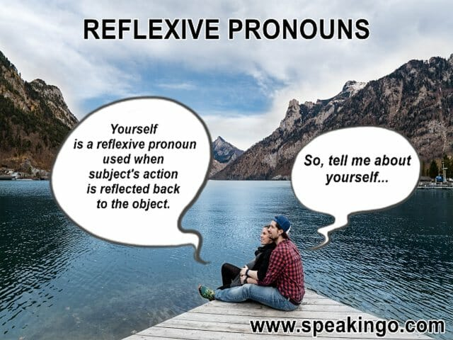 reflexive pronouns, zaimki zwrotne