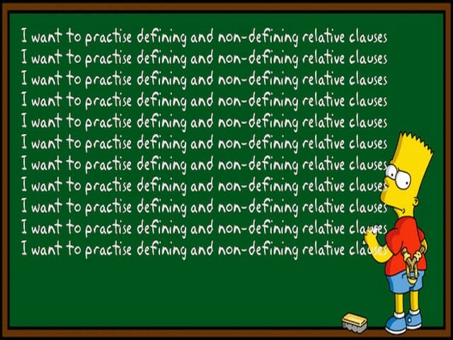 relative clauses, defining, non-defining