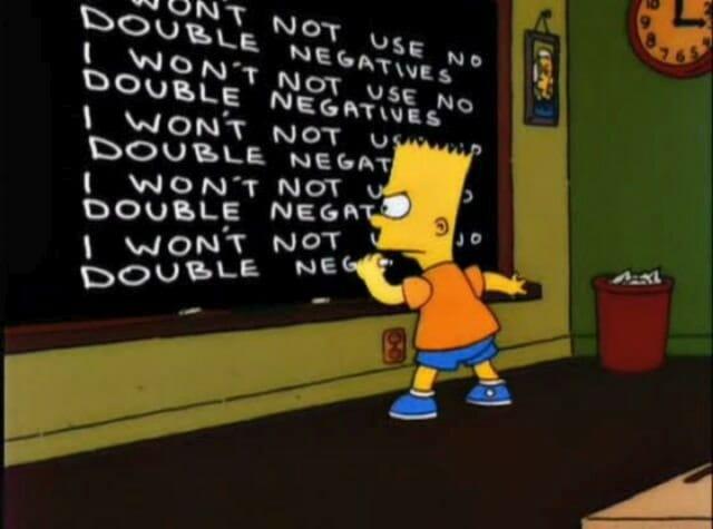 podwójne zaprzeczenia double negative angielski język
