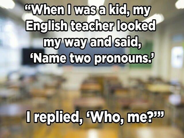zájmena v angličtině, gramatika, části mluvy