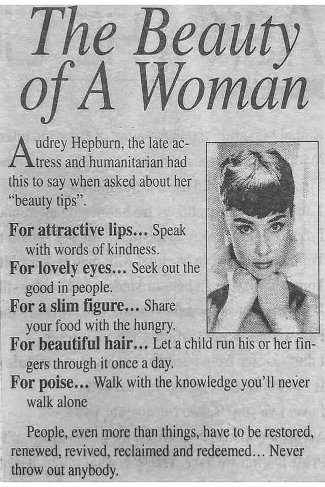 Audrey Hepburn, jak być piękną kobietą