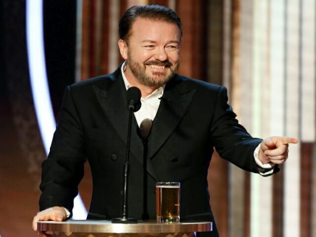 rick gervais, zlote globy, golden globes, 2019