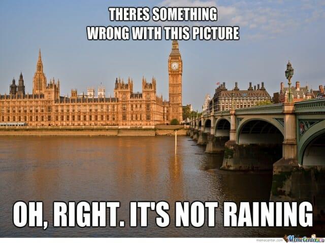 przyslowia o pogodzie, pogoda w anglii, londyn