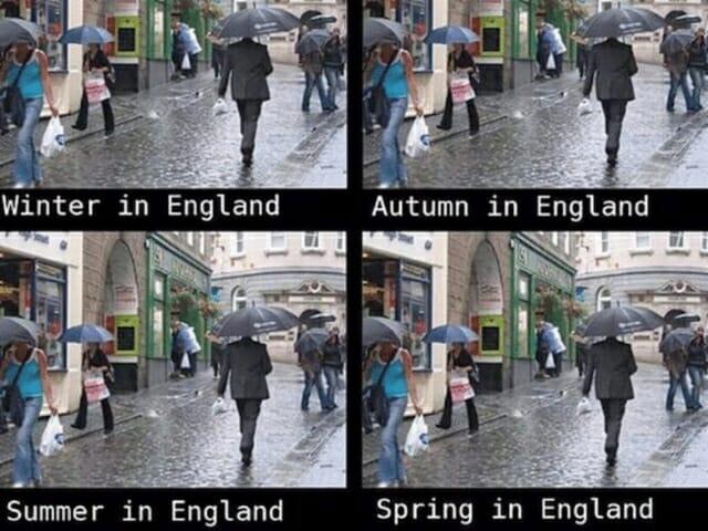 pogoda w anglii londynie, przysłowia, powiedzenia