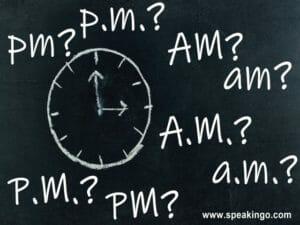 Jak to się w końcu pisze po angielsku: am, a.m., AM, A.M. czy pm, p.m., PM, P.M.?