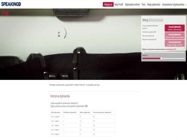 kurs języka angielskiego online speakingo, dyktando online,