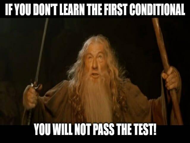 pierwszy tryb warunkowy (first conditional)