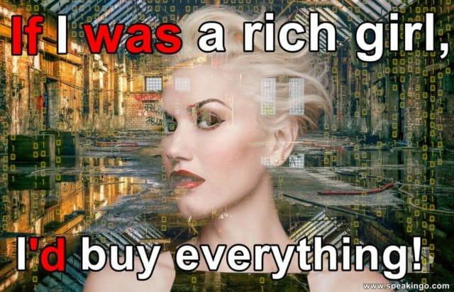 gwen stefani, rich girl, skrzypek na dachu, fiddler on the roof, gdybym byl bogaty, if i were a rich man, drugi okres warunkowy