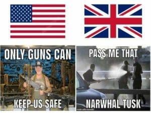 Różnice między amerykańską a brytyjską gramatyką w języku angielskim.