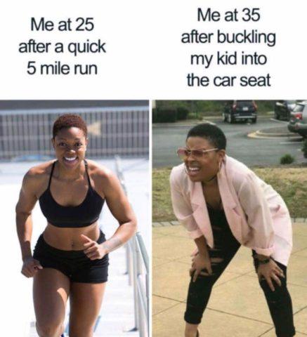 sport, bieganie, śmieszne memy o rodzicielstwie, rodzicach i dzieciach