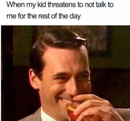 śmiech, dżentelmen, śmieszne memy o rodzicielstwie, rodzicach i dzieciach