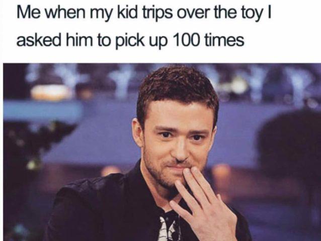 timberlake justin, śmieszne memy o rodzicielstwie, rodzicach i dzieciach, zabawki