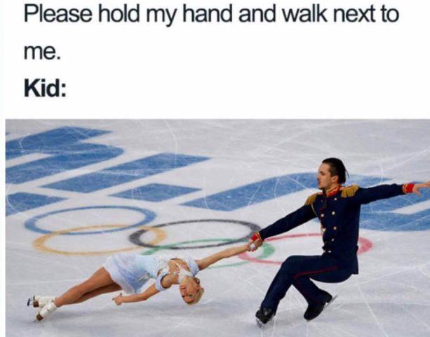 łyżwiarstwo figurowe, śmieszne memy o rodzicielstwie, rodzicach, dzieci