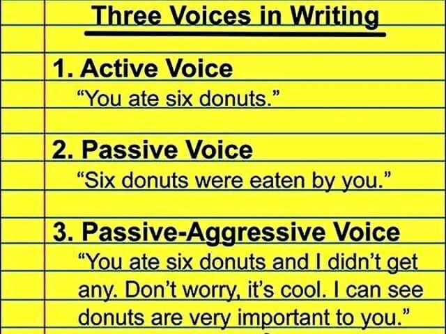 past simple passive voice tense, strona bierna, angielski, passive-aggressive, pasywna agresja
