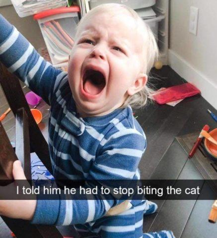 krzyk, Płaczące dzieci w śmiesznych memach po angielsku