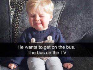 Płaczące dzieci w śmiesznych memach po angielsku