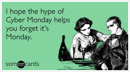 Cyber Monday poniedziałek, promocja, kurs języka angielskiego online, hype