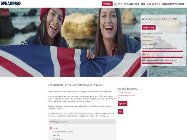 profil ucznia, kurs języka angielskiego online speakingo