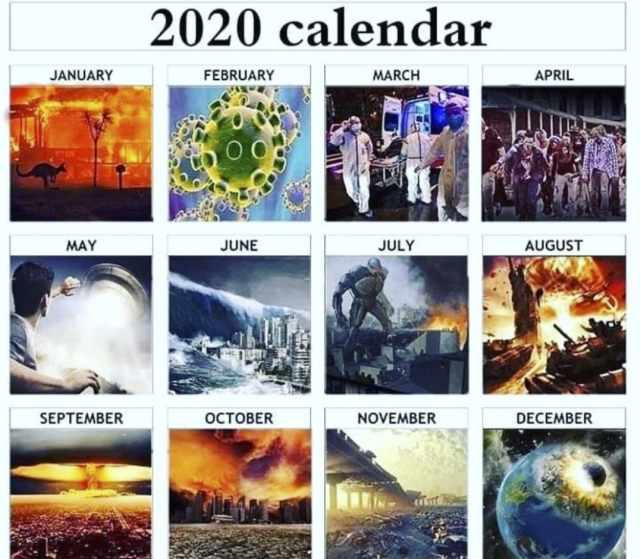 angielskie memy 2020 podsumowanie roku śmieszne