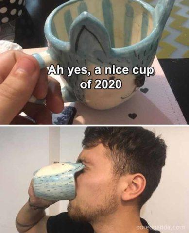 angielskie memy 2020 podsumowanie roku śmieszne kubek
