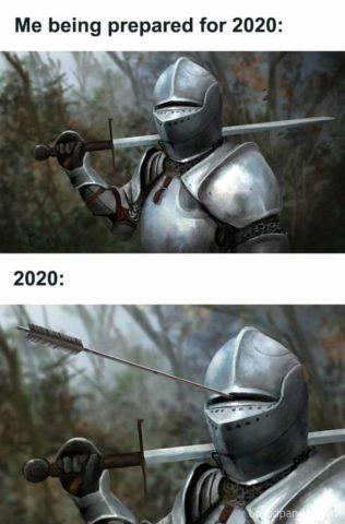 angielskie memy 2020 podsumowanie roku śmieszne rycerz