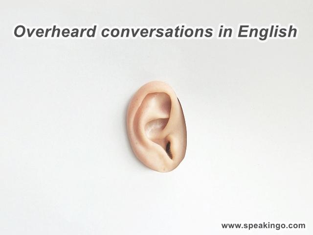 Podsłuchane rozmowy po angielsku