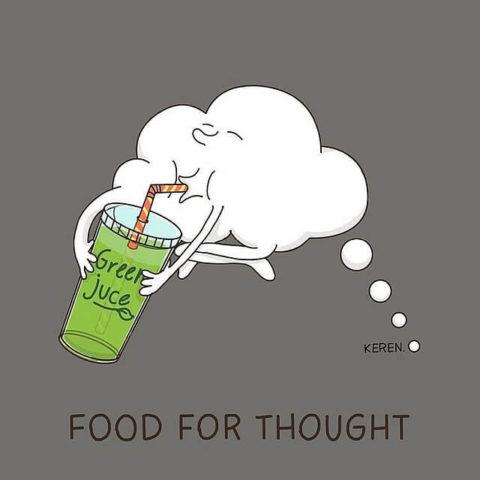 populární anglické idiomy v zábavných a zábavných obrázcích, food for thought