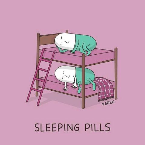 populární anglické idiomy na obrázcích sleeping pills, spánek