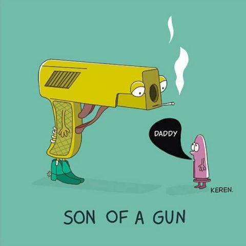 populární anglické idiomy na obrázcích son of the gun