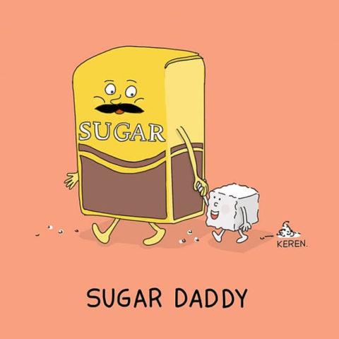 populární anglické idiomy v obrázcích sugar