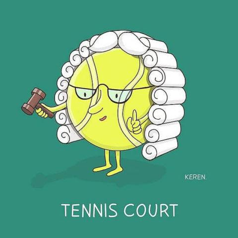populární anglické idiomy v tenisových obrázcích