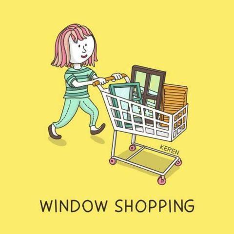 populární anglické idiomy v obrazech window shopping nakupování
