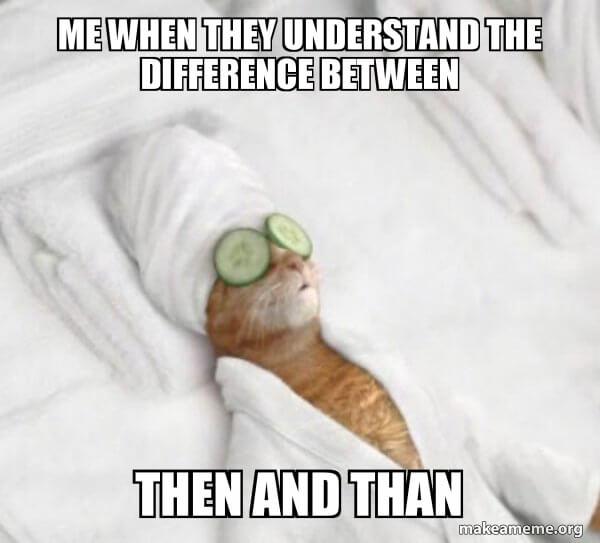 then czy than różnica kot nauczyciel angielskiego