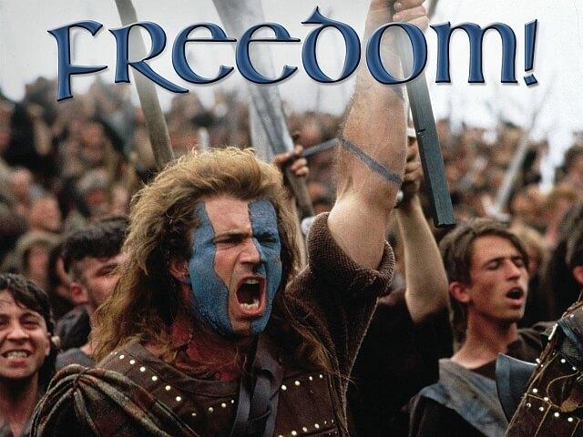 William Wallace (Braveheart) o wolności (FREEDOM!!)